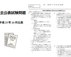 公表試験問題サンプル画像